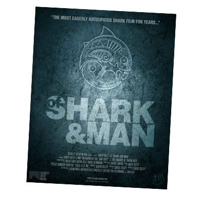 of-shark-and-man-poster